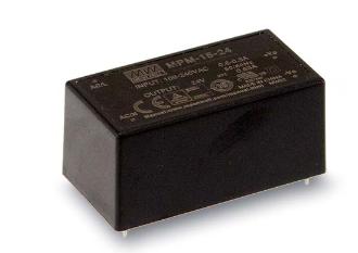 12V 1,25A 15W Einbaunetzteil MeanWell MPM-15-12