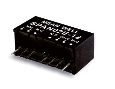 MeanWell SPAN02 DC/DC-Wandler SIP8