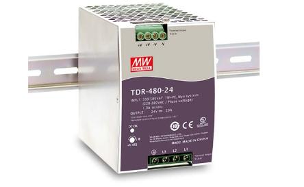24V 20A 480W Hutschienennetzteil MeanWell TDR-480-24