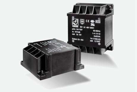 Flachtransformator Hahn UI48 60VA 2x115V 2x15V 2x2000mA