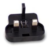 Steckeraufsatz für MeanWell-Steckernetzteile, Variante England