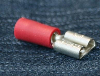 100 x Flachsteckhülse, normal, 0,5 - 1,0mm², 6,3 x 0,8mm