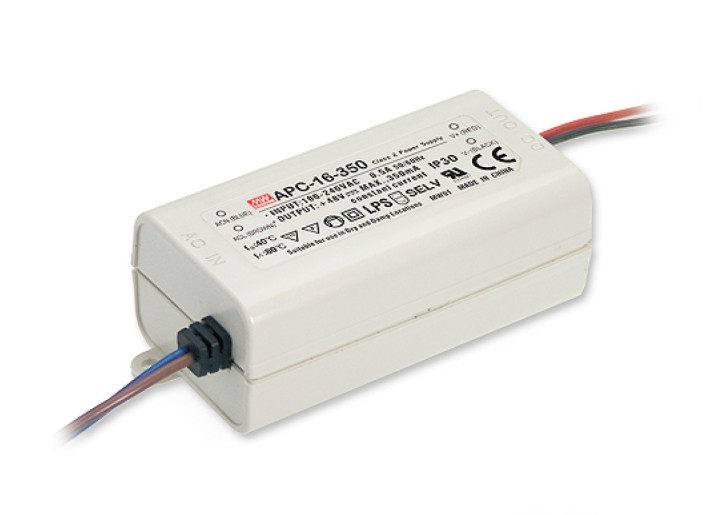 LED-Netzteil Konstantstrom 0,35A 16W MeanWell APC-16-350