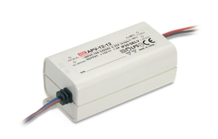 12V LED-Netzteil 1,0A 12W MeanWell APV-12-12