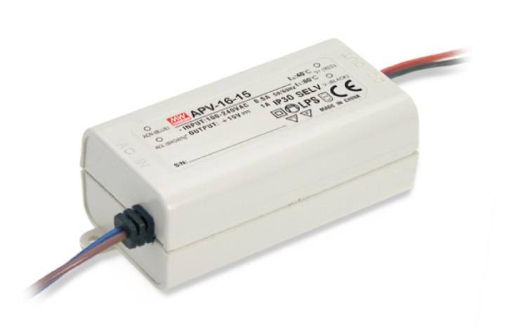 MeanWell APV-16-12 LED-Netzteil 12V / 1,3A 40x77x29mm