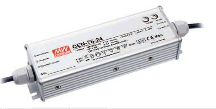 15V LED-Netzteil 5A 75W MeanWell CEN-75-15