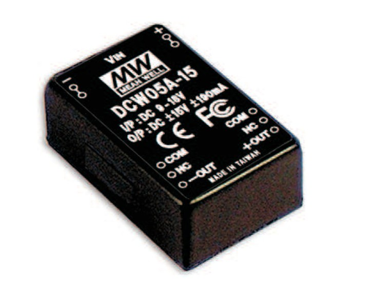 DC-Wandler IN 9-18V OUT +/-12V 230mA 5,5W
