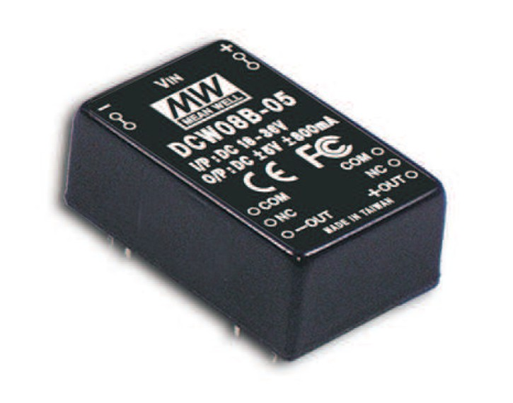 DC-Wandler IN 9-18V OUT +/-5V 800mA 8W