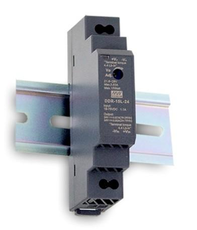24V DC-Wandler auf Hutschiene MeanWell DDR-15G-24, Eingang 9V bis 36V