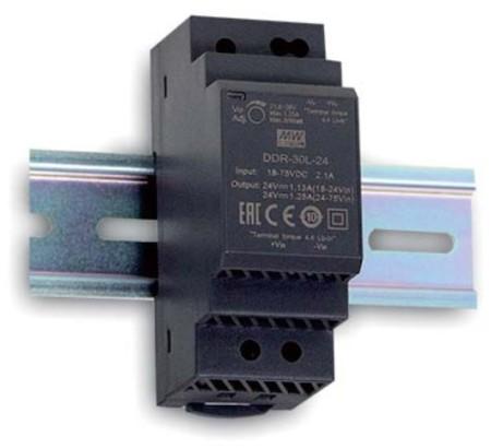 5V DC-Wandler auf Hutschiene MeanWell DDR-30G-5, Eingang 9V bis 36V
