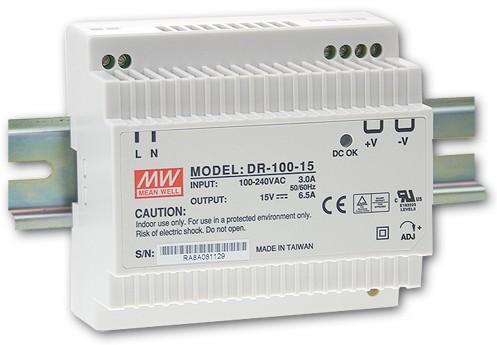 12V Hutschienen-Netzteil 7,5A 90W MeanWell DR-100-12