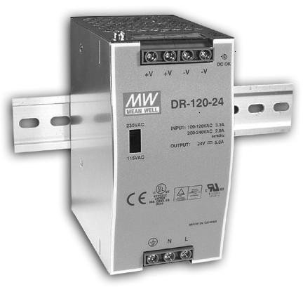 12V Hutschienen-Netzteil 10A 120W MeanWell DR-120-12