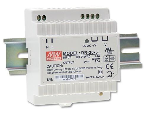 12V Hutschienen-Netzteil 2A 24W MeanWell DR-30-12