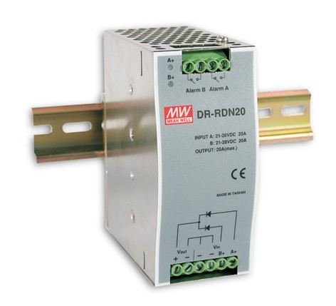 24-29V Notstromnetzteil 20A 480W MeanWell DR-RDN20