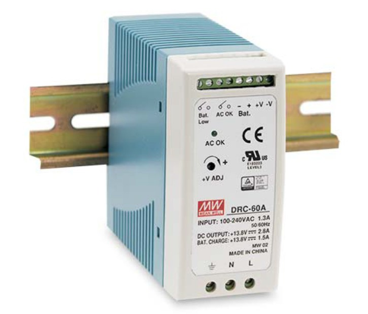13,8V Notstromnetzteil 4,3A 60W MeanWell DRC-60A