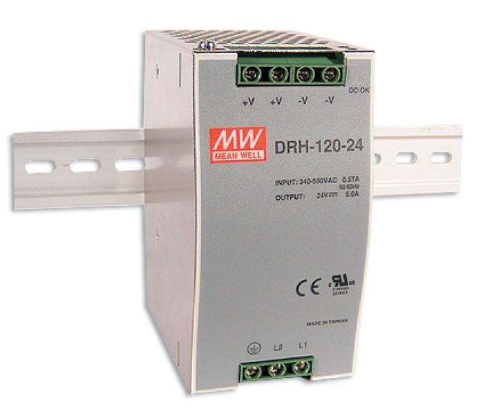 24V Hutschienen-Netzteil 5A 120W MeanWell DRH-120-24