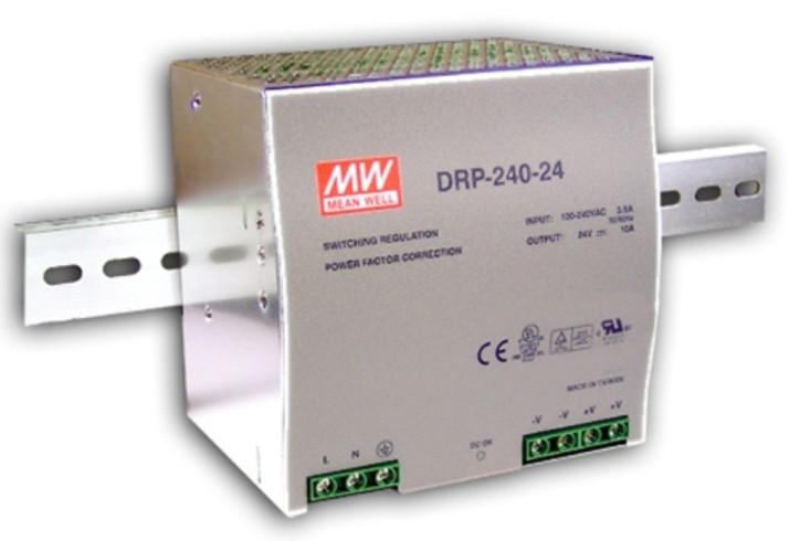 24V Hutschienen-Netzteil 10A 240W MeanWell DRP-240-24