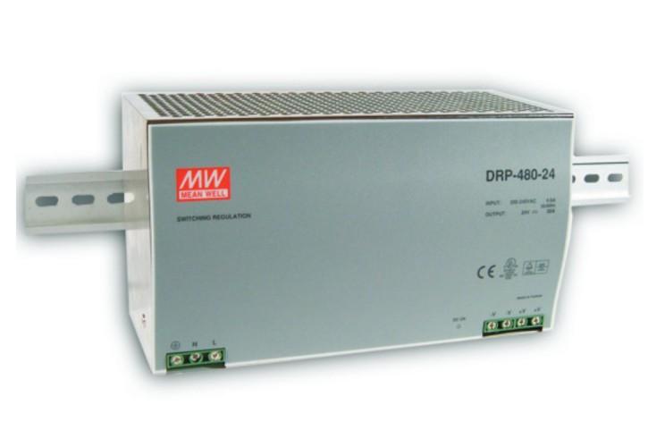 24V Hutschienen-Netzteil 20A 480W MeanWell DRP-480-24
