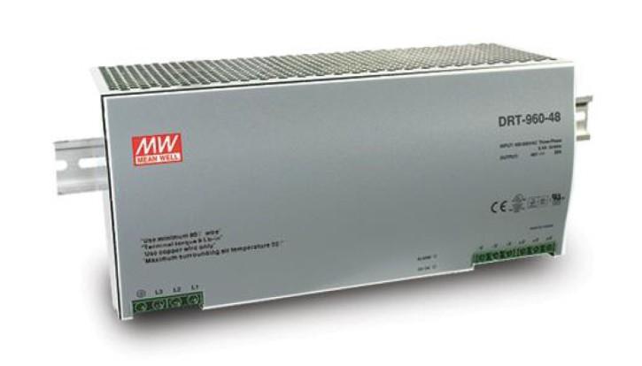 24V Hutschienen-Netzteil 40A 960W MeanWell DRT-960-24