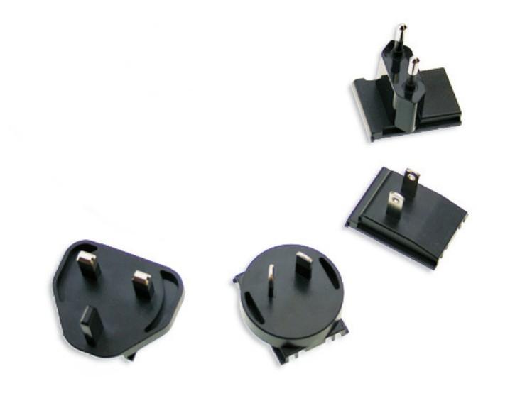 Wechseladapter für MeanWell GE-Serie, VK, EU, UK und USA, 4er Set