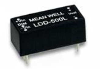 Step-Down DC-DC constant-current LED-Driver,600mA, IN 9V to 36V, pinned, LDD-600L