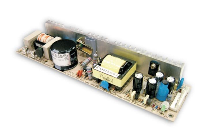 12V Einbaunetzteil MeanWell LPS-75-12