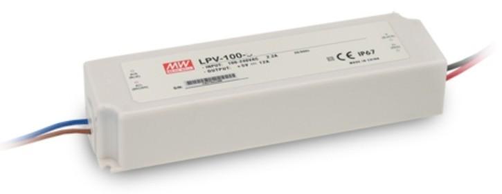 12V LED-Netzteil MeanWell LPV-100-12