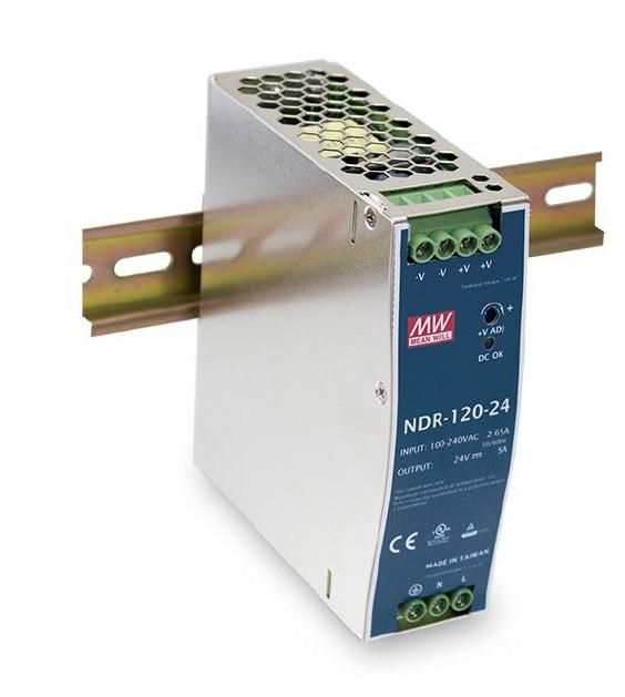 MEANWELL NDR-120-12 Netzteil Hutschiene 12V / 10A, 40 x 113 x 125mm (LxBxH)