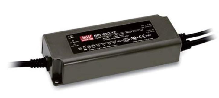 12V 7,5A 90W LED-Netzteil MeanWell NPF-90D-12