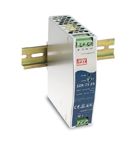 12V 6,3A 75,6W Hutschienen-Netzteil MeanWell SDR-75-12