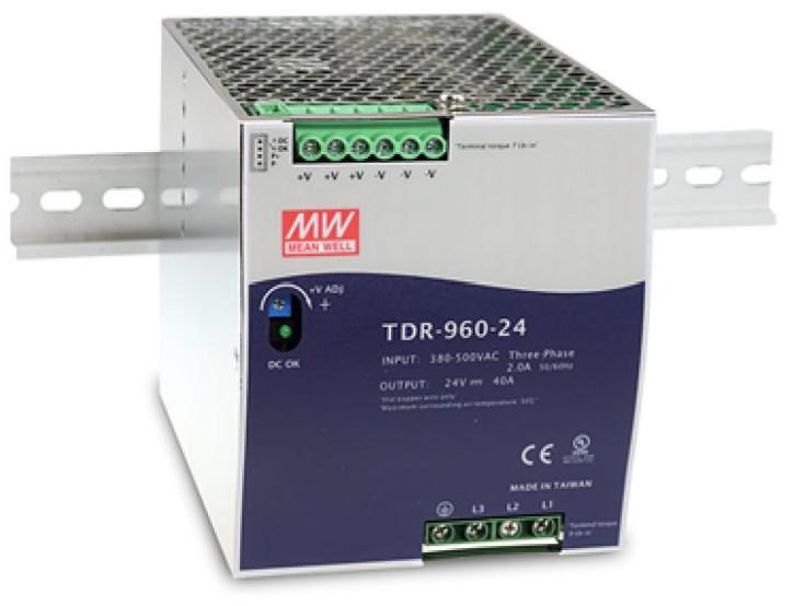 24V 40A 960W Hutschienennetzteil MeanWell TDR-960-24