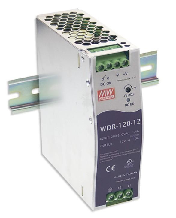 12V 120W Netzteil für Hutschiene MeanWell WDR-120-12