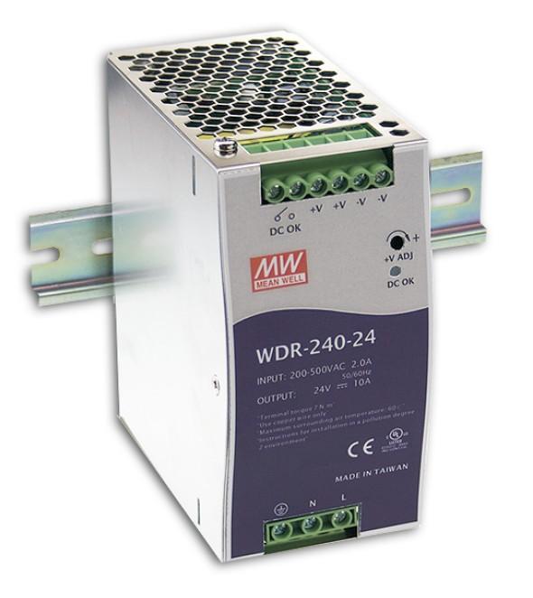 24V 240W Netzteil für Hutschiene MeanWell WDR-240-24