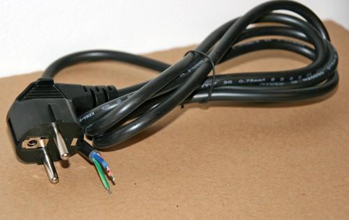10 x Netzkabel 3-polig, 1,5m, mit offenen Enden