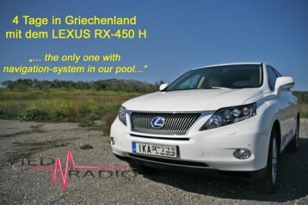 22.04.2012 Unterwegs in Griechenland: LEXUS RX-450h Vollhybrid
