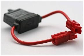 Sicherungshalter max. 30A, mit power-pole-30 Anschluss, rot