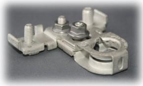 Batteriepolklemme Pluspol einzeln inkl Pol-Kennzeichnung und M6 M8 Schraubanschluß