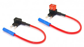 5 x Sicherungshalter für KFZ-Mini-Sicherung Circuit+ 2P