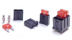 25 x Sicherungshalter für KFZ-Mini-Sicherung Print 2pins