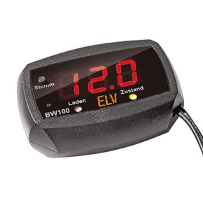 car-battery-monitoring 12V with LED-display, ready-built-up, simple to use