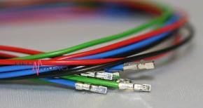 Kabelsatz 4farbig, 30cm, 2fach zu PB-600 und PB-1000