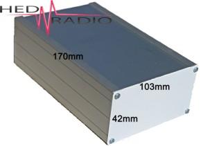 Aluminium-Gehäuse z.B. für 70W Audio-Verstärker TPA70W
