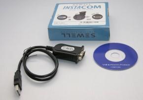 USB-auf-Seriell-Wandler mit SubD 9-polig