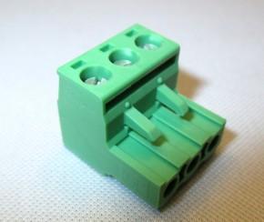Phönix Contact MSTB 2,5-5,08, Schraubklemme 3 polig, grün