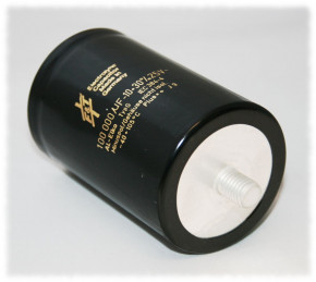 100.000µF 25V radial, F&T, Kondensator Gewindeanschluss M5