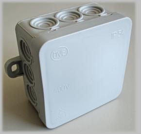 Abzweigdose IP54 75x75mm grau