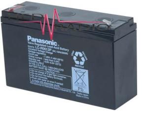 6V 12Ah Blei Akku Panasonic LC-R0612 mit 6,3mm Faston