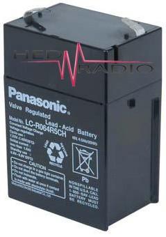 6V 4,5Ah Blei Akku Panasonic LC-R064R5