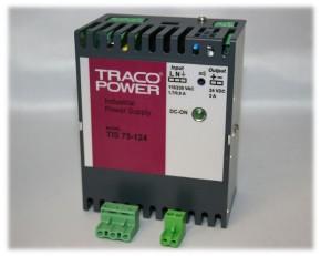 TIS-75-124, Hutschienen-Netzteil Traco 24V 75W, geprüft