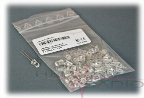 50 x LED 5mm 3.000mcd rot, TOSHIBA TLRE-180 AP